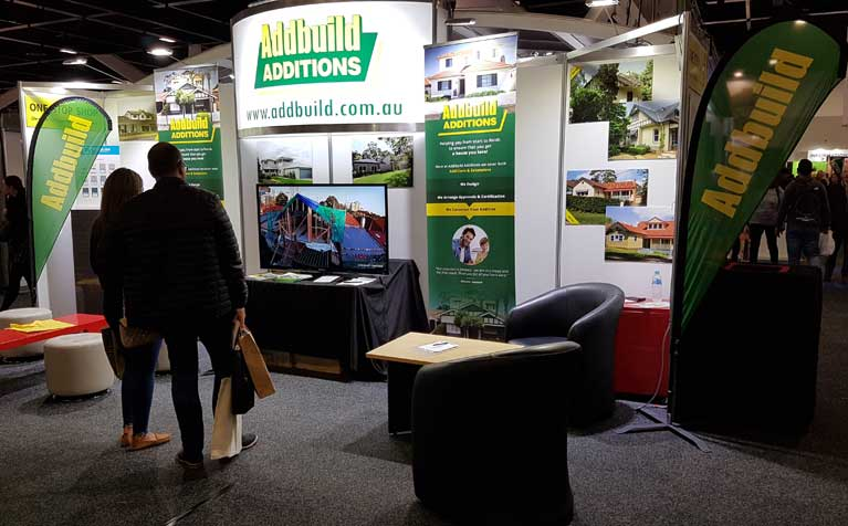 Addbuild Stand at the Oct 2018 Sydney Home Show