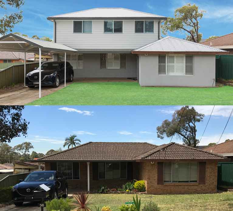 Budget Home Additions Before and After in Greystanes