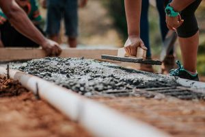 Social Distancing on a Building Site